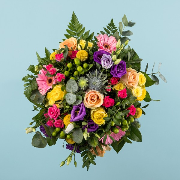 Bouquet rond multicolor