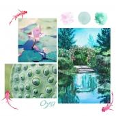 INDICES COLLECTION : imaginez une balade au bord d'un lac. Observez les végétaux qui s'épanouissent sur les berges. Et si ce paysage prenait forme sous les pinceaux d'un artiste impressionniste ? Avez-vous deviné le thème de notre nouvelle collection ? . . . #surlebordulac #peinture #moodboard #collectionflorale #oya #oyafleurs